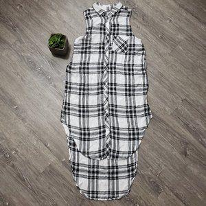 Rails Black & White Plaid Jordyn Tunic Dress S